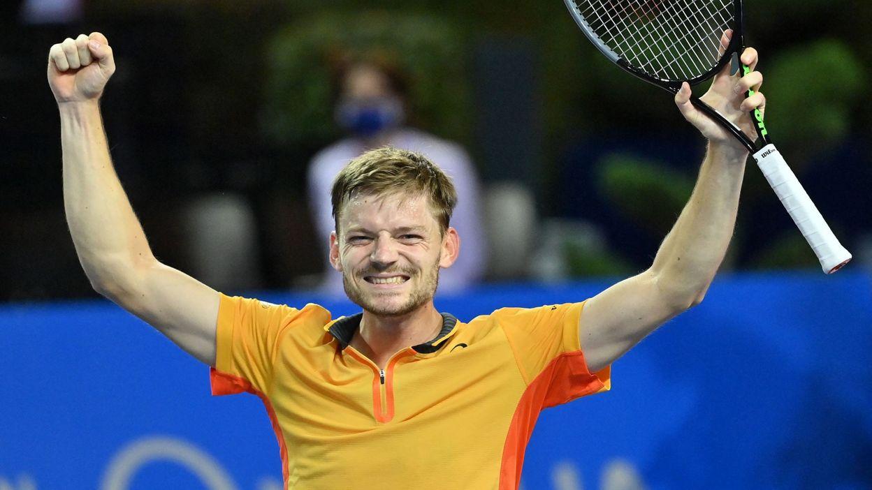 09h37 David Goffin, vainqueur à Montpellier, gagne une place à l'ATP et redevient 14ème mondial - RTBF