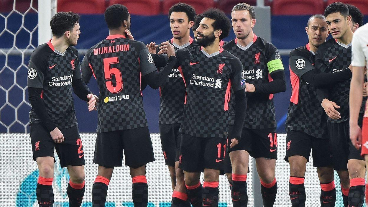 LDC : Liverpool profite de deux erreurs de Leipzig et prend une option sur les quarts - RTBF