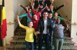 Jean-Marc Nollet et les enfants en visite au parlement fédéral!