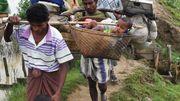 Les réfugiés Rohingyas dans le no man's land entre la Birmanie et le Bengladesh, le 2 novembre 2017