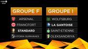Du très costaud pour le Standard, de belles affiches pour La Gantoise en Europa League