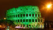Le Colisée et la basilique du Sacré-Cœur se colorent de vert pour la Saint-Patrick