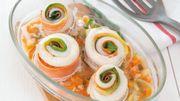 Recette: Roulés poireau-carotte au merlan