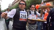 Une course inédite de garçons de café débarque à Verviers