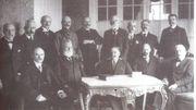 Image d'archive-le Gouvernement Belge en exil à Sainte-Adresse
