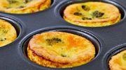 La recette à 3 ingrédients de Candice: Mini quiches sans pâte au brocoli et au cheddar