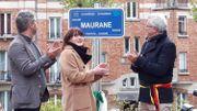 L'inauguration du square Maurane.