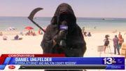 Coronavirus: un avocat de Floride se balade sur les plages, déguisé en faucheuse