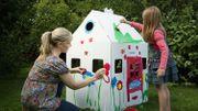 Kabaka : une cabane en carton 100% belge à construire avec les enfants