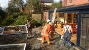 Les dommages matériels sont importants dans la rue Armand Bury à Gozée.
