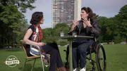 Nathalie Basteyns et le ministre des poubelles