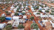 Un camp de personnes déplacées en Syrie, dans la province d'Idlib.