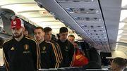 Les Diables rouges embarquent dans l'avion pour la Russie