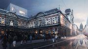 Les esquisses du projet de restauration du Conservatoire royal de Bruxelles