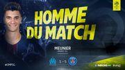 Thomas Meunier, élu homme du match, participe au festival parisien à l'OM