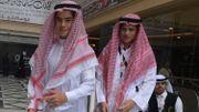Amir Mohamed Khan, 14 ans (à droite) et Chouaib Milne, 16 ans (à gauche), dans leur hôtel de La Mecque, le 7 août 2019