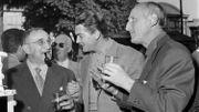 Charles Vanel, Jean Marais et Bourvil, en 1959