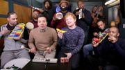 Accompagné d'une maraca banane et de Jimmy Fallon, Ed Sheeran fait des merveilles!