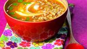 Recette : Soupe de potimarron aux noix
