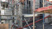 Sur la toiture du bas-côté nord de la nef