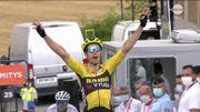 Un très bon Wout Van Aert s'impose sur la 1e étape du Dauphiné et enfile le maillot jaune