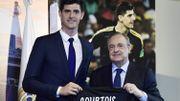 Thibaut Courtois et Florentino Perez
