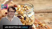 Recette de Carlo: granola maison aux fruits secs
