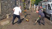 Nettoyage des rues à Dolhain