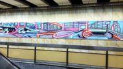 L'une des fresques réalisées dans la station Étangs Noirs.