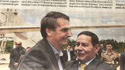 Le président du Brésil,Jair Bolsonaro et le vice-président Hamilton Mourão, à la Une du journal O Globo en février 2019.