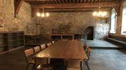 L'ancien réfectoire des nonnes de l'abbaye de Marche-les-Dames sera transformé en une salle de réception.