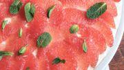 Recette : Gâteau au pamplemousse de Floride, yaourt à la grecque