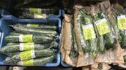 Même les légumes à la pièce sont emballés, afin de pouvoir les distinguer