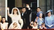 Le mariage du prince Andrew et de Sarah Ferguson en 1986