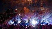 Coldplay: une pluie de feux d'artifice à New York!