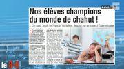 Nos élèves champion du monde de chahut