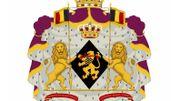 Les nouvelles armoiries du prince ou de la princesse héritière. Elisabeth devant être la prochaine à monter sur le trône, la forme de son écusson est un losange.