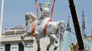 Tunisie: 29 ans après, la statue de Bourguiba sur son cheval retrouve le centre de Tunis