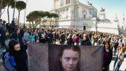 Le portrait de Greta Thunberg brandi à Rome
