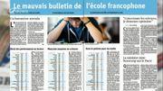 Le mauvais bulletin de l'école francophone