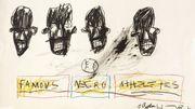 """L'oeuvre de Basquiat """"Famous Negro Athletes"""" mise aux enchères"""