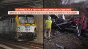 Accident entre un train et un camion en province de Liège : que faisait le camion sur les voies ?