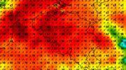 Carte des rafales maximales issues du modèle européen de prévision