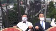Règles sanitaires : des patrons de parcs d'attractions japonais montrent comment rester stoïques
