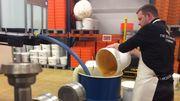 Xavier Rennotte stocke près de 30 tonnes de miel pour produire ses 4000 litres d'hydromel annuellement.
