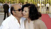Marie-José Nat et son confrère acteur Jean Benguigui à Versailles en 2005