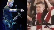 Regardez cet enfant pleurer de joie quand James Hetfield de Metallica le regarde