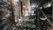 Il ne reste rien du hall de production et de stockage, complètement détruit par les flammes.