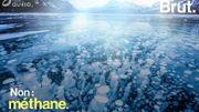 Comment des bulles de méthane se trouvent-elles prisonnières de la glace?