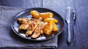 Recette : aiguillettes de poulet aux abricots
